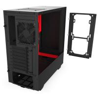 NZXT H510 Tempered Glass Mid Tower ATX Case - Matte Red
