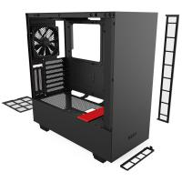 NZXT H510i Smart Tempered Glass Mid Tower ATX Case - Matte Red