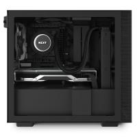 NZXT H210 Tempered Glass Mini Tower ITX Case - Matte Black