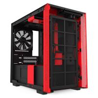 NZXT H210 Tempered Glass Mini Tower ITX Case - Matte Red
