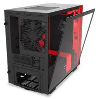 NZXT H210i Smart Tempered Glass Mini Tower ITX Case - Matte Red