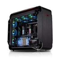 Inwin 928 Aluminium Tempered Glass ARGB Super Tower EATX Case - Black