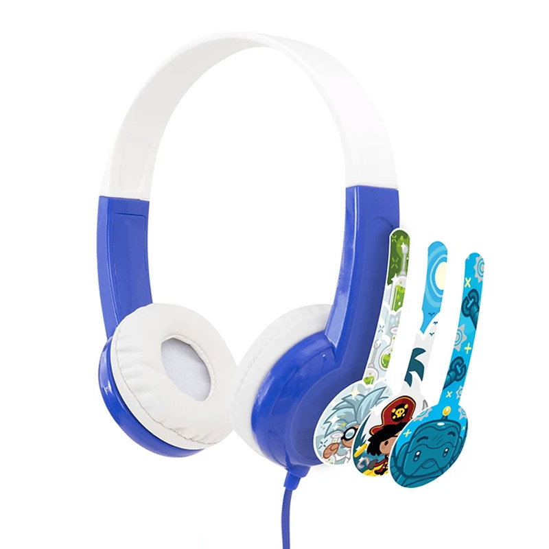 BuddyPhones Discover Kids Volume Limiting Headphones - Blue