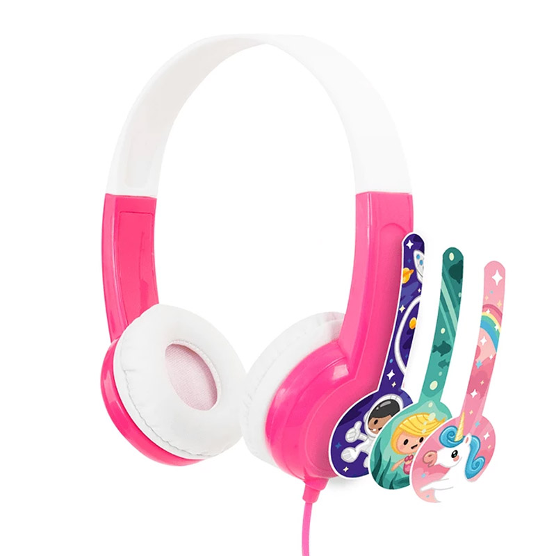 BuddyPhones Discover Kids Volume Limiting Headphones - Pink