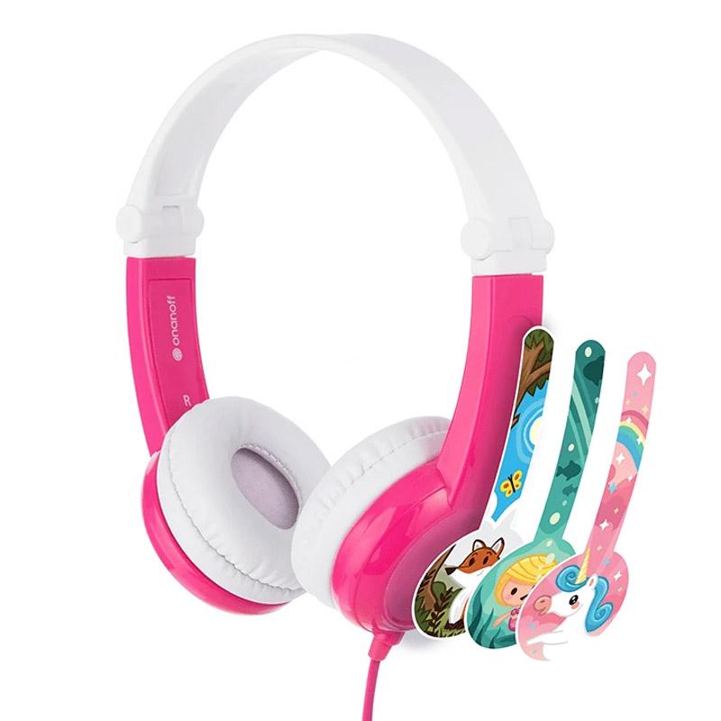 BuddyPhones Connect Kids Volume Limiting Headphones - Pink