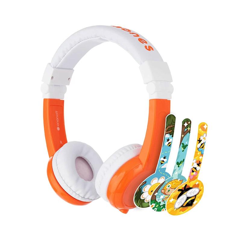 BuddyPhones Explore Kids Volume Limiting Foldable Headphones - Orange