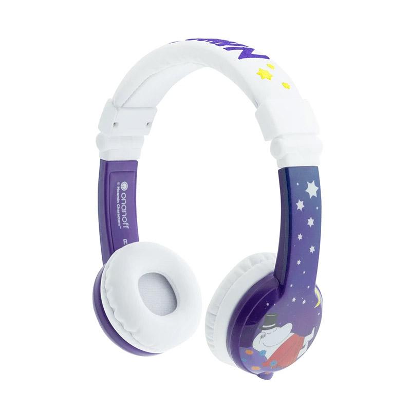 BuddyPhones Moomin Edition Kids Volume Limiting Foldable Headphones - Pama Purple