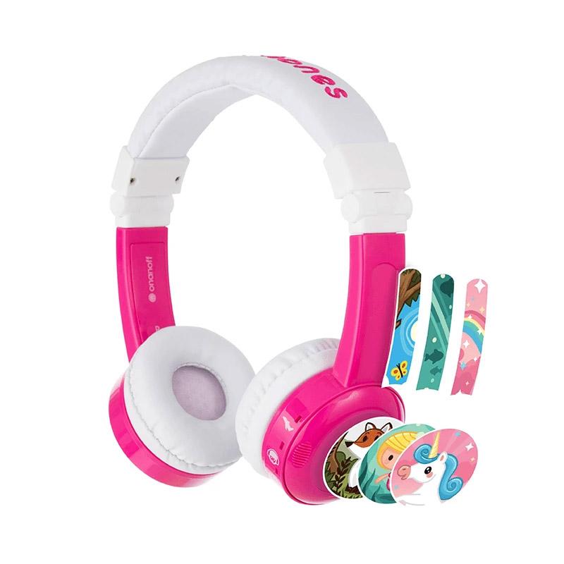 BuddyPhones InFlight Kids Volume Limiting Headphones - Pink