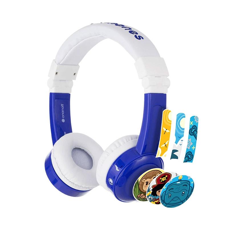BuddyPhones InFlight Kids Volume Limiting Headphones - Blue