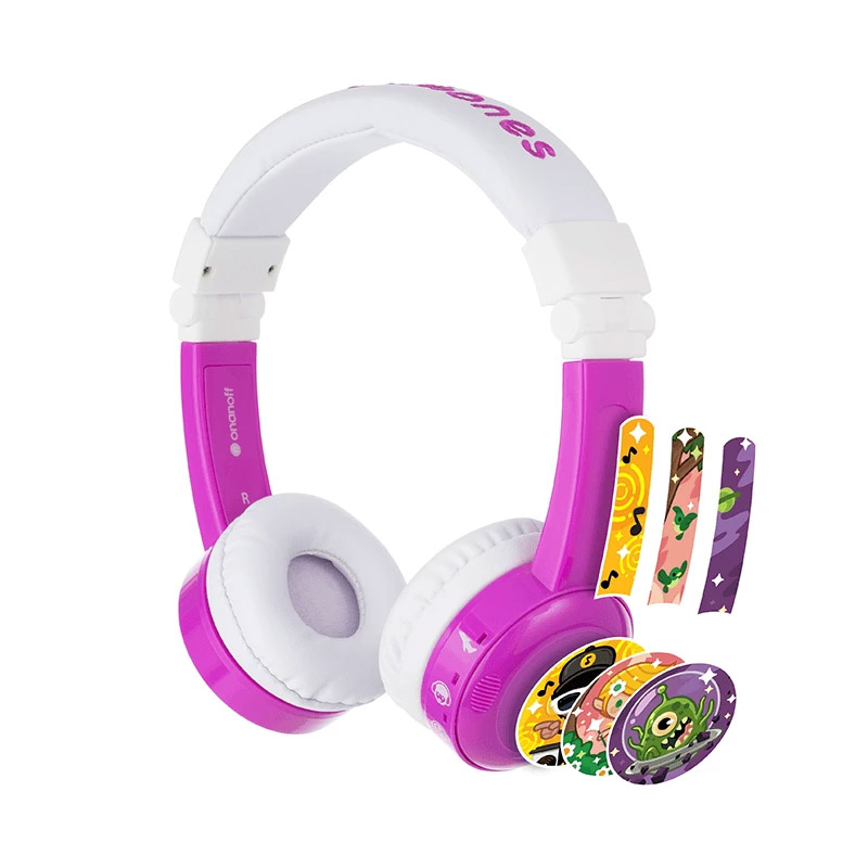 BuddyPhones InFlight Kids Volume Limiting Headphones - Purple