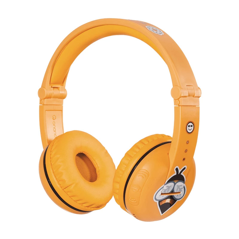 BuddyPhones Play Kids Volume Limiting Wireless Headphones - Yellow Safari