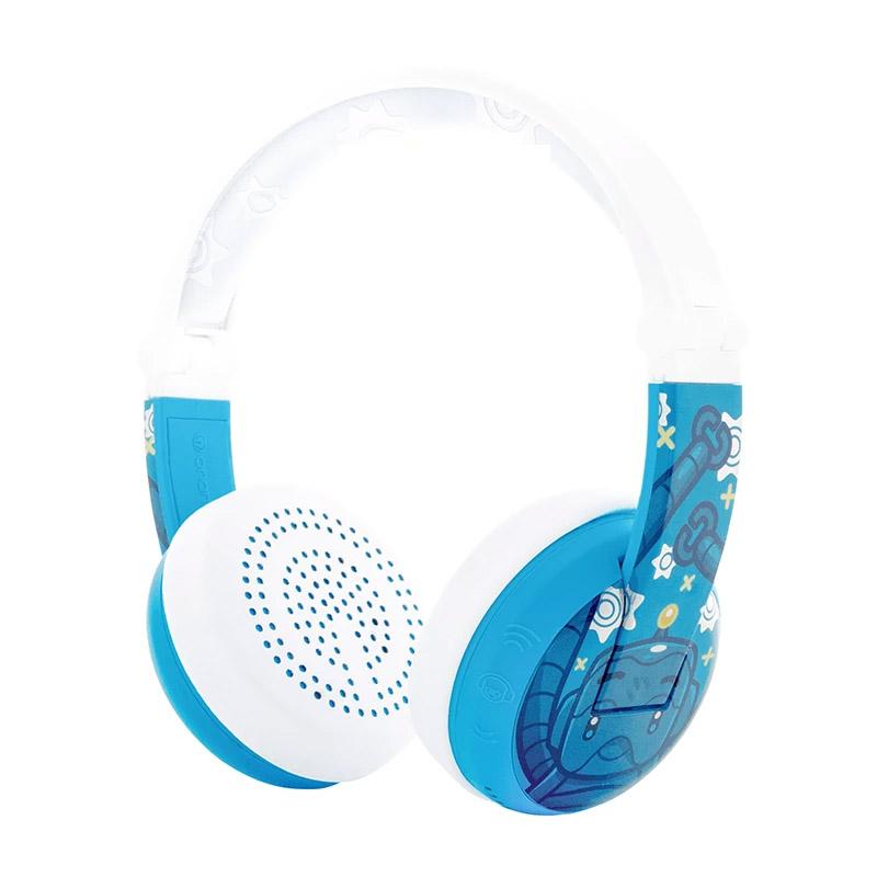 BuddyPhones Wave Kids Volume Limiting Waterproof Wireless Headphones - Blue Robot