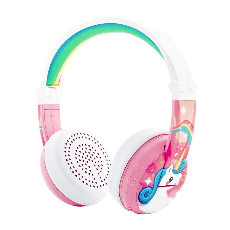 BuddyPhones Wave Kids Volume Limiting Waterproof Wireless Headphones - Pink Unicorn