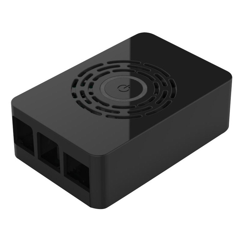 Multicomp Raspberry Pi 4 Model B Case - Black with Power Button