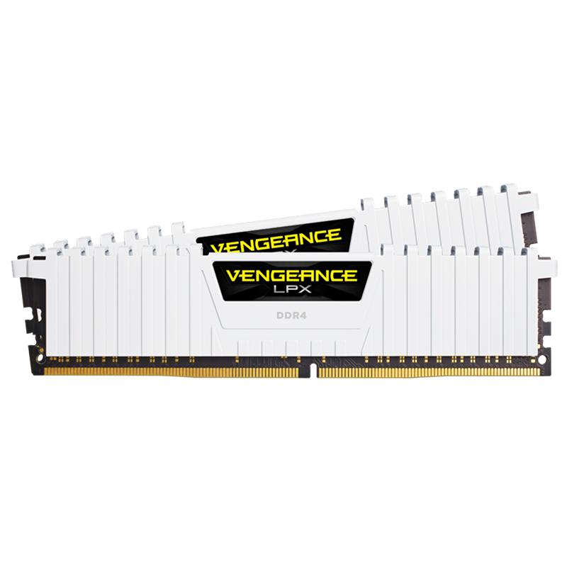 Corsair 32GB (2x16GB) CMK32GX4M2A2666C16W Vengeance LPX 2666MHz DDR4 RAM - White