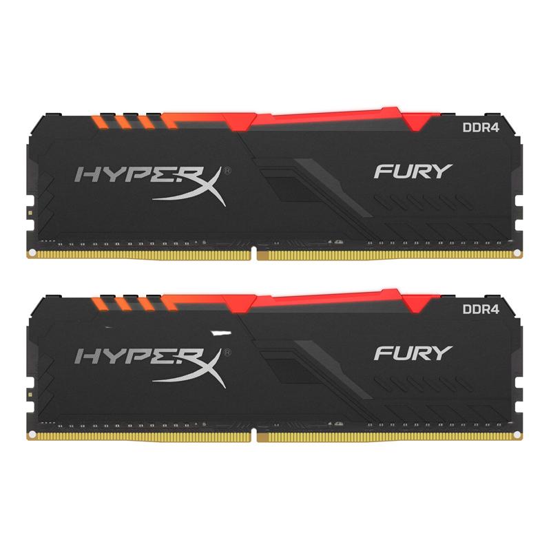 Kingston HyperX 32GB (2x16GB) HX432C16FB3AK2/32 Fury RGB 3200MHz DDR4 RAM