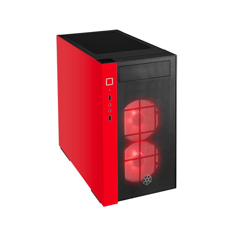 SilverStone RL08BR-RGB Black&Red Tempered Glass ATX Case