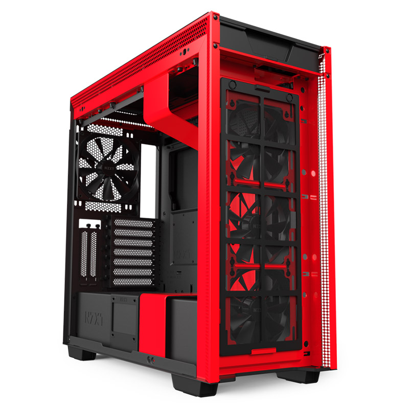 NZXT H710i Smart Tempered Glass Mid Tower ATX Case - Matte Red