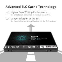 "Silicon Power 256GB SSD 3D NAND A55 SLC Cache Performance Boost SATA III 2.5"" 7mm (0.28"") SP256GBSS3A55S25"