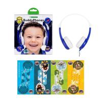 BuddyPhones Connect Kids Volume Limiting Headphones - Blue