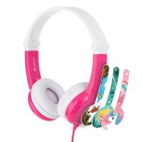 BuddyPhones Connect Kids Volume Limiting Headphones - Pink