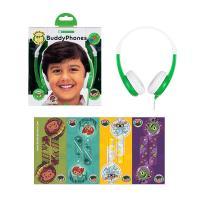 BuddyPhones Connect Kids Volume Limiting Headphones - Green