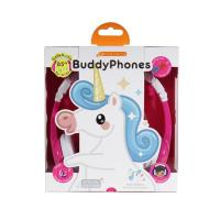BuddyPhones Explore Kids Volume Limiting Foldable Headphones - Unicorn Pink