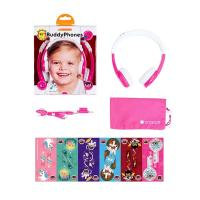 BuddyPhones Explore Kids Volume Limiting Foldable Headphones - Pink