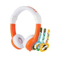 BuddyPhones Explore Kids Volume Limiting Foldable Headphones - Orange