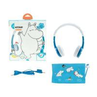 BuddyPhones Moomin Edition Kids Volume Limiting Foldable Headphones - Moomin Blue
