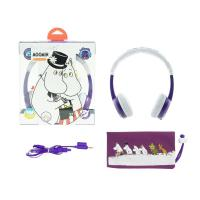BuddyPhones Moomin Edition Kids Volume Limiting Foldable Headphones - Pama Purple