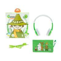 BuddyPhones Moomin Edition Kids Volume Limiting Foldable Headphones - Snufkin Green