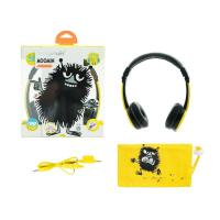 BuddyPhones Moomin Edition Kids Volume Limiting Foldable Headphones - Stinky Yellow