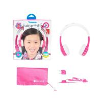 BuddyPhones InFlight Kids Volume Limiting Headphones - Pink