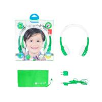 BuddyPhones InFlight Kids Volume Limiting Headphones - Green