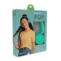 BuddyPhones Pop Volume Limiting Wireless Headphones - Turquoise