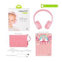 BuddyPhones Play Kids Volume Limiting Wireless Headphones - Pink Sakura