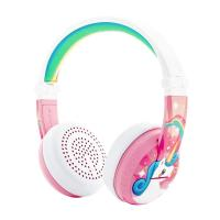 BuddyPhones Wave Kids Volume Limiting Waterproof Wireless Headphones - Pink Unicorn