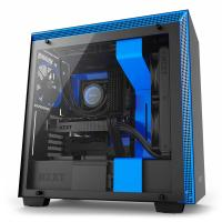 NZXT H700 Matte Tempered Glass Mid Tower ATX Case - Blue