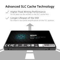 "Silicon Power 2TB SSD 3D NAND A55 SLC Cache Performance Boost SATA III 2.5"" 7mm (0.28"") SP002TBSS3A55S25"