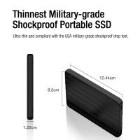 Silicon Power 512GB 3D NAND TLC Rugged Portable External SSD USB 3.1 Gen 2 (USB3.2) with USB-C to USB-C/USB-A Cables