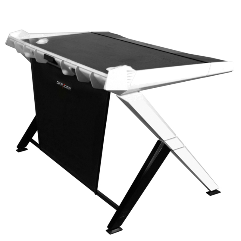 DXRacer 1000 Series Gaming Desk Black - White