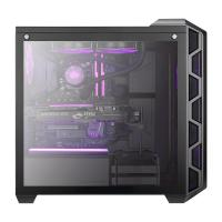 Cooler Master 0 Tempered Glass RGB Mid Tower ATX Case - Iron Grey