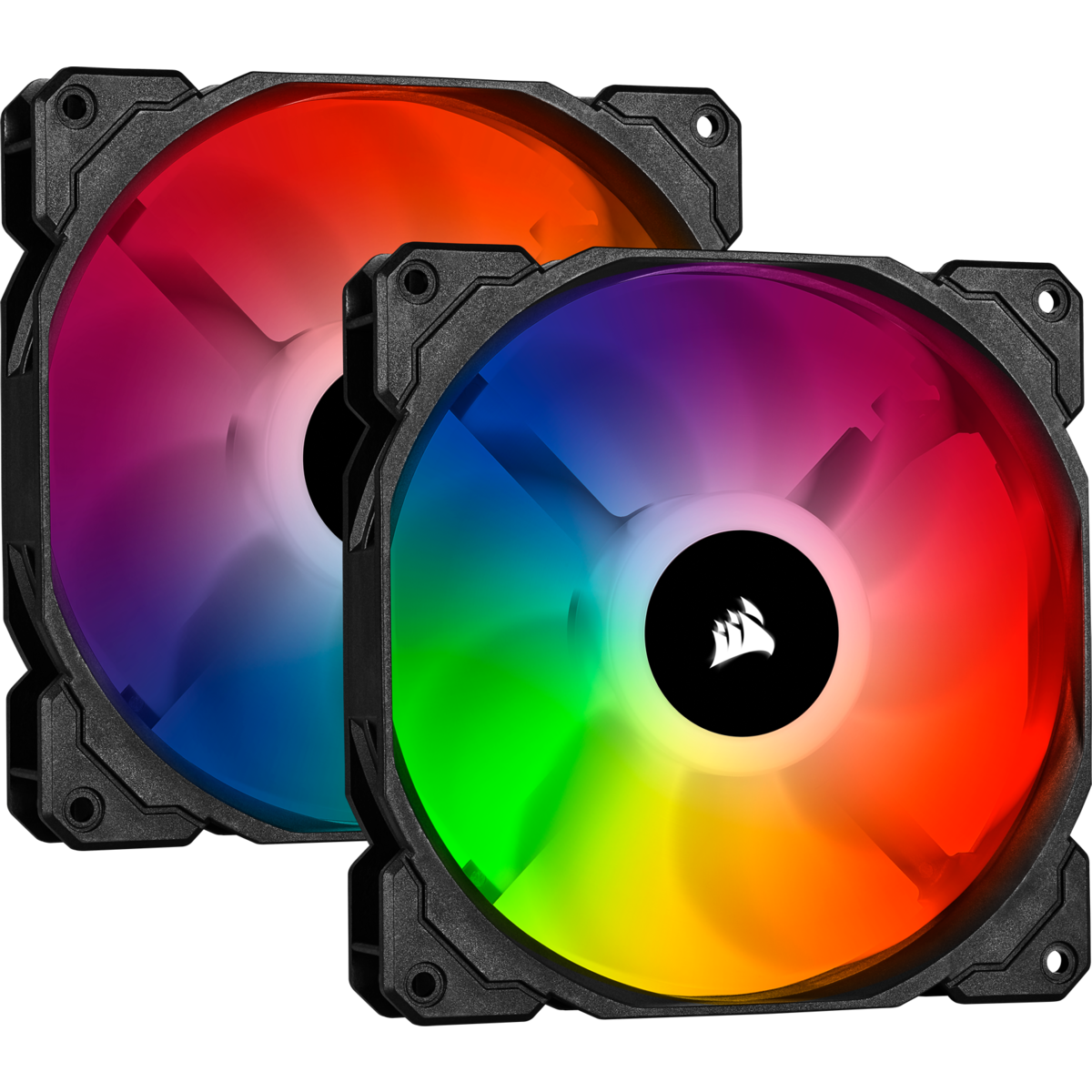 Corsair SP 140mm Fan RGB PRO Twin Pack with Lighting Node Core