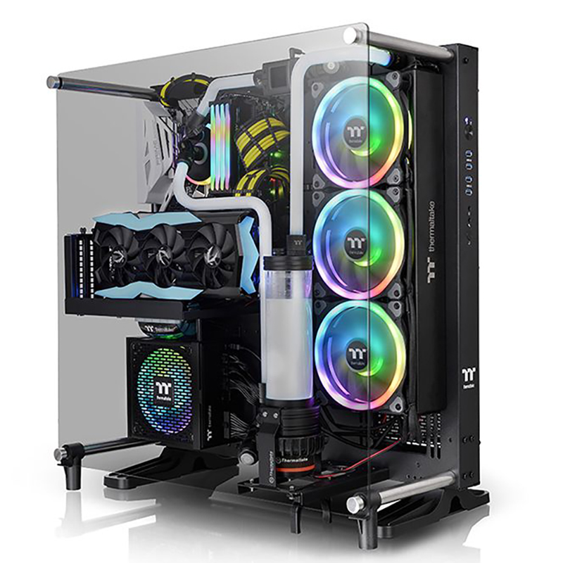Thermaltake Core P5 V2 Tempered Glass Wall Mount ATX Case - Black