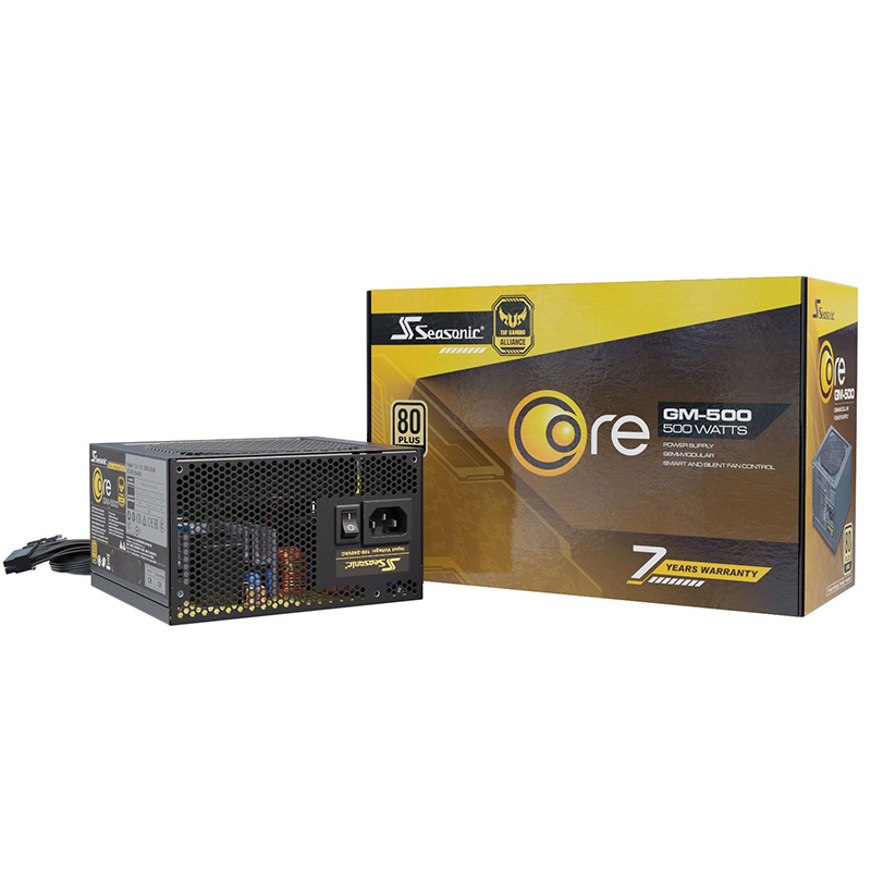 Seasonic 500W Focus Core GM 80 + Gold Semi Modular Power Supply (GM-500)