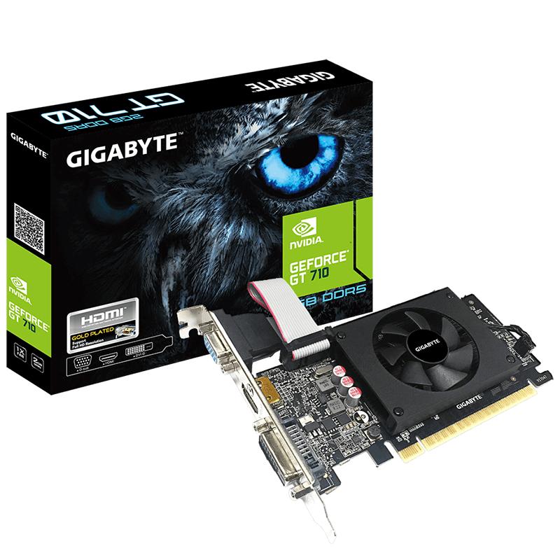 Gigabyte Geforce GT 710 Low Profile 2GB DDR5 HDMI DVI D-Sub Video Card
