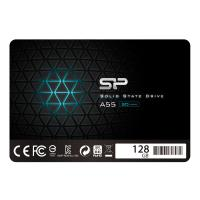 "Silicon Power 128GB SSD 3D NAND A55 SLC Cache Performance Boost SATA III 2.5"" 7mm (0.28"") SP128GBSS3A55S25"