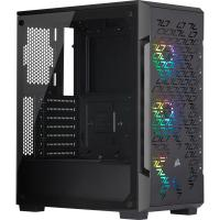 Corsair iCUE 220T Tempered Glass RGB Mid Tower ATX Case - Black