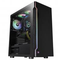 Thermaltake H200 Tempered Glass RGB Mid Tower ATX Case - Black